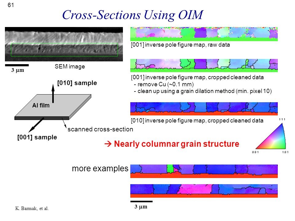 Cross-Sections Using OIM