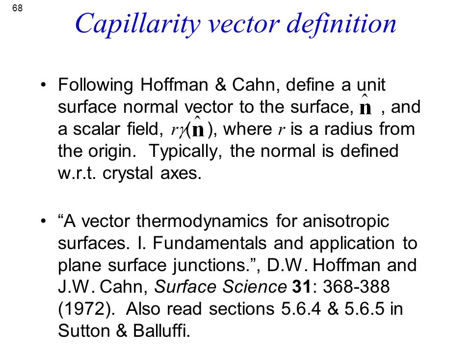 Capillarity vector definition