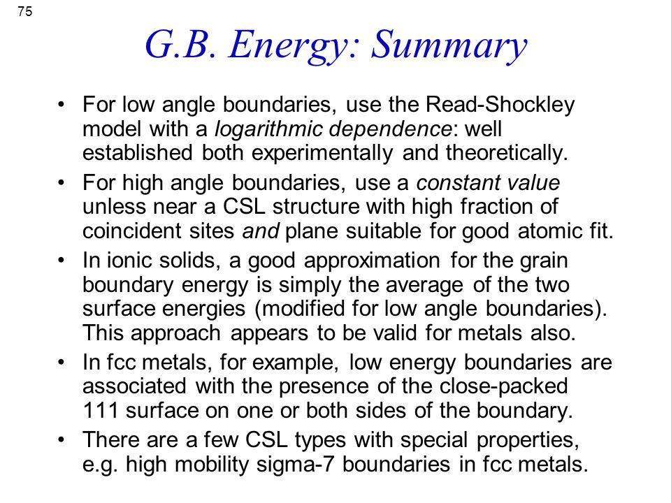 G.B. Energy: Summary