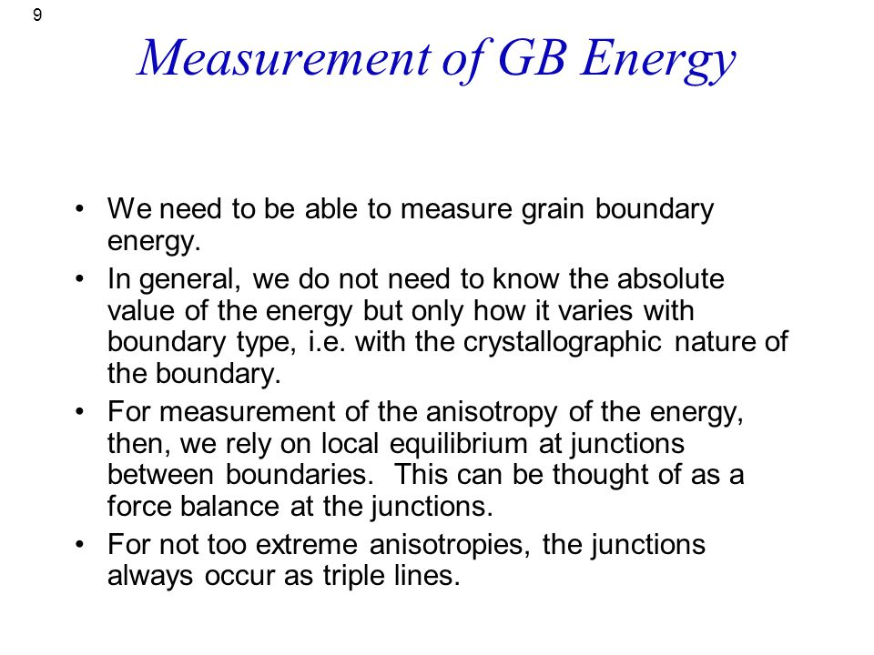 Measurement of GB Energy