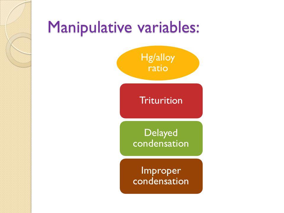 Manipulative variables: