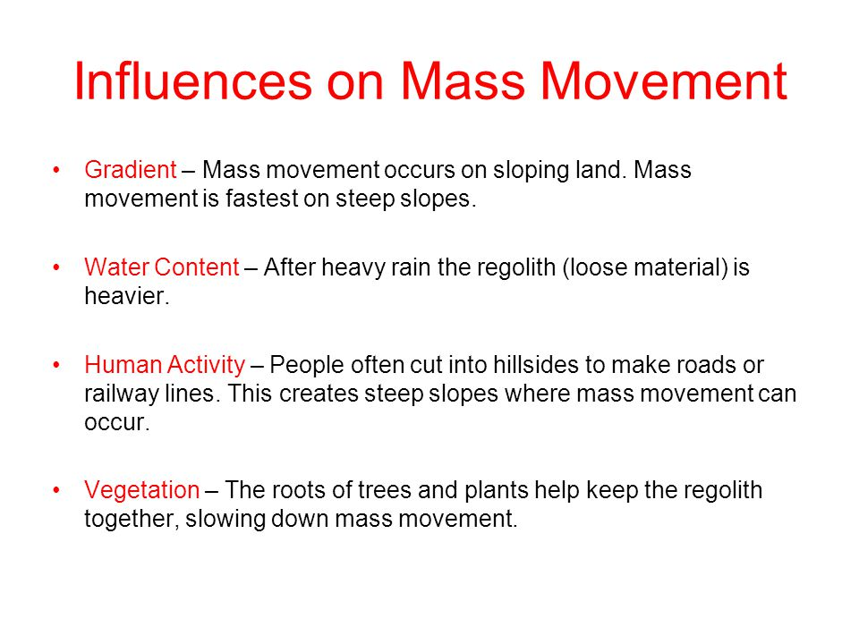 Influences on Mass Movement