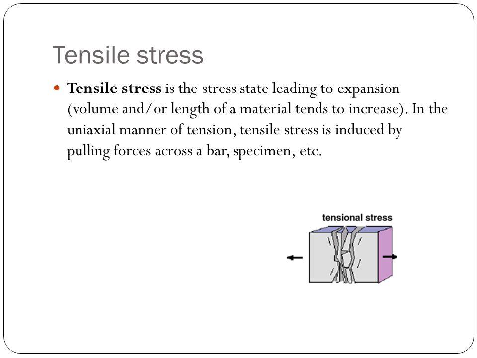 Tensile stress