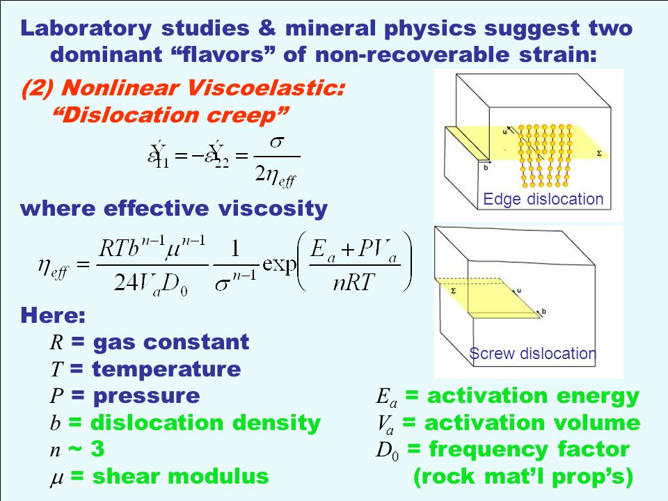 Laboratory studies & mineral physics suggest two