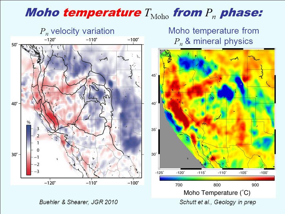 Moho temperature TMoho from Pn phase:
