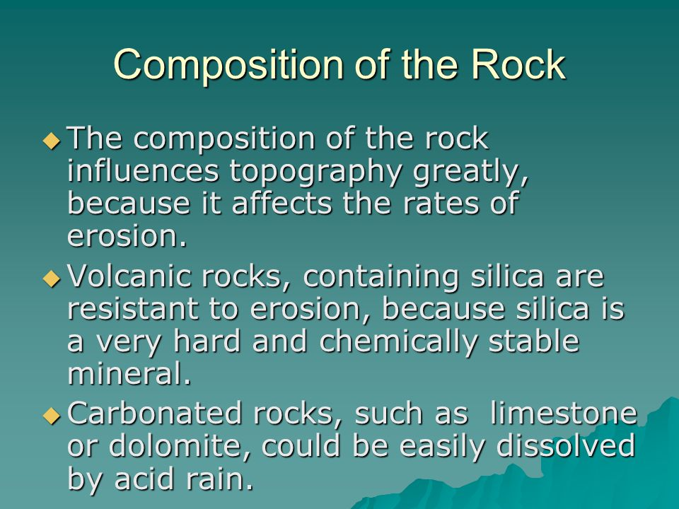 Composition of the Rock