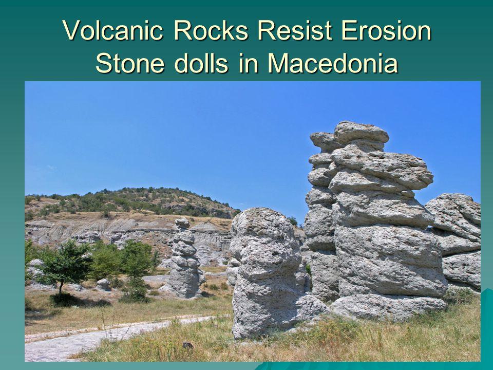 Volcanic Rocks Resist Erosion Stone dolls in Macedonia