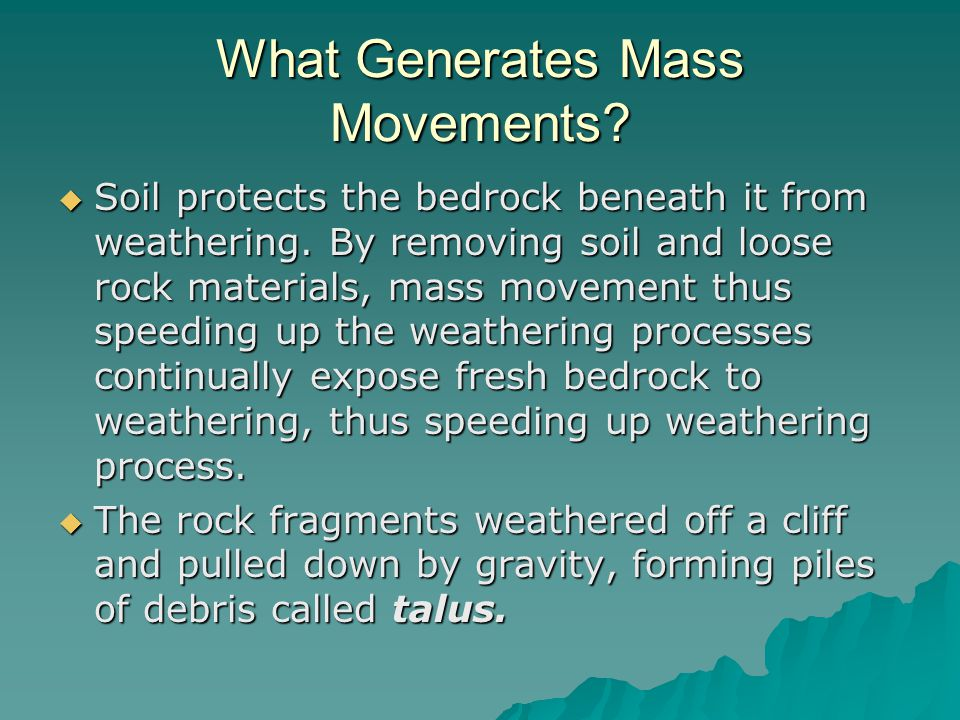What Generates Mass Movements