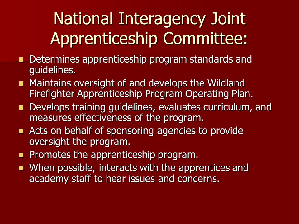 National Interagency Joint Apprenticeship Committee: