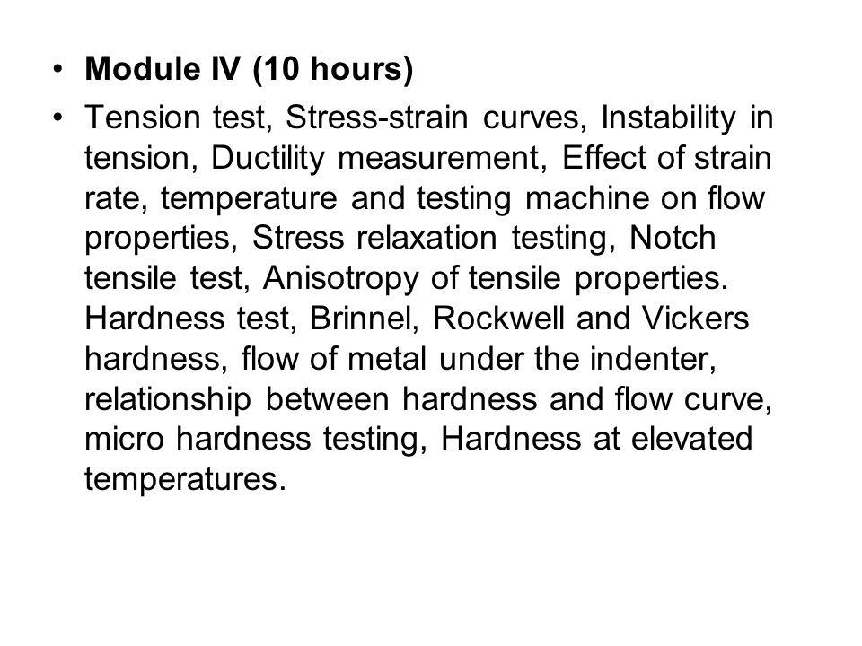 Module IV (10 hours)
