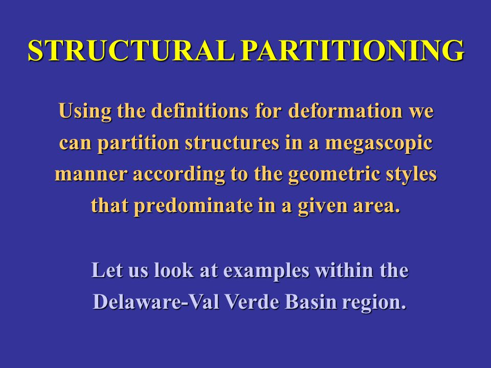 STRUCTURAL PARTITIONING