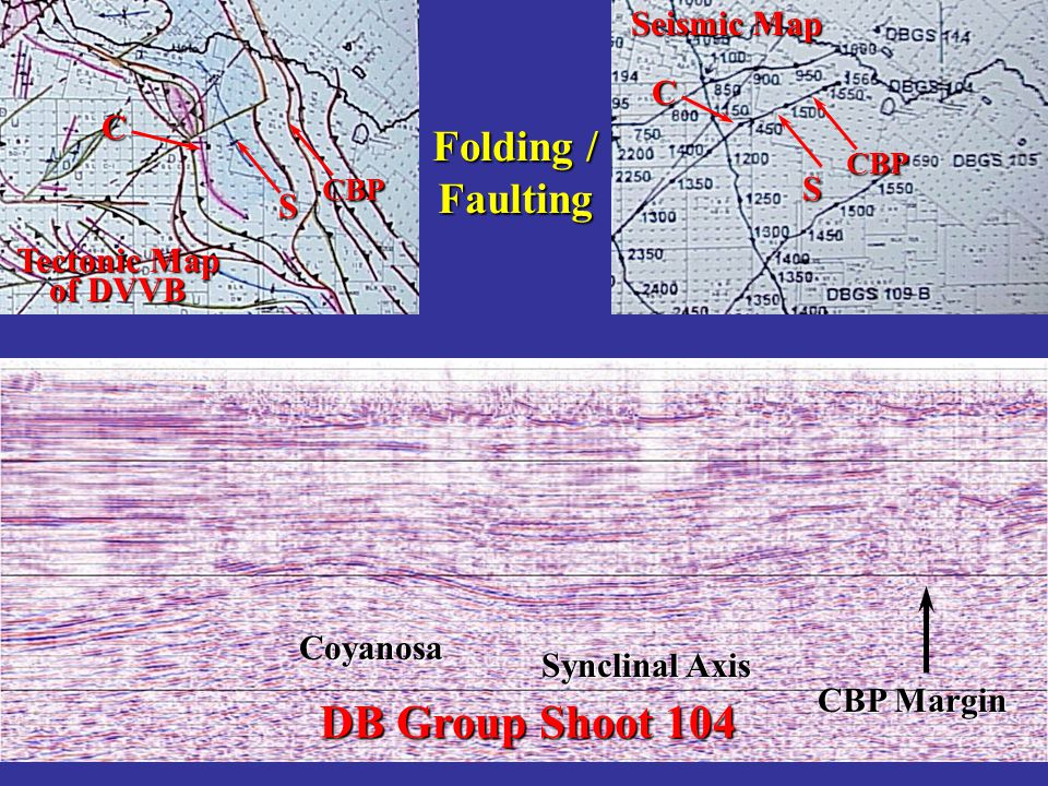 DB Group Shoot 104 Folding / Faulting Seismic Map C C S S