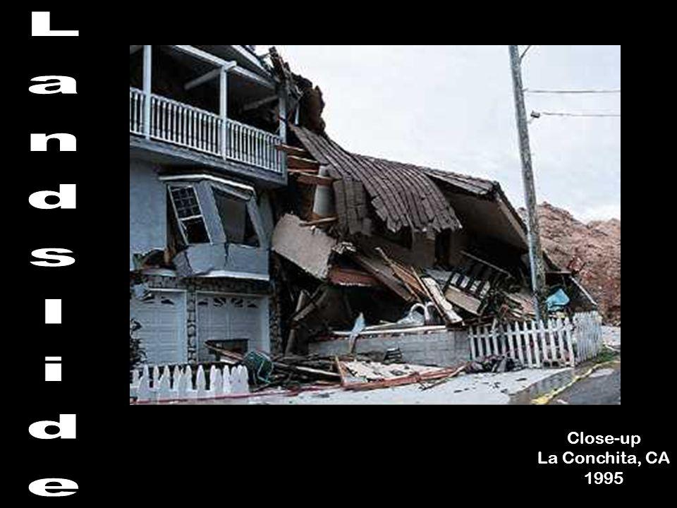 Landslide Close-up La Conchita, CA 1995