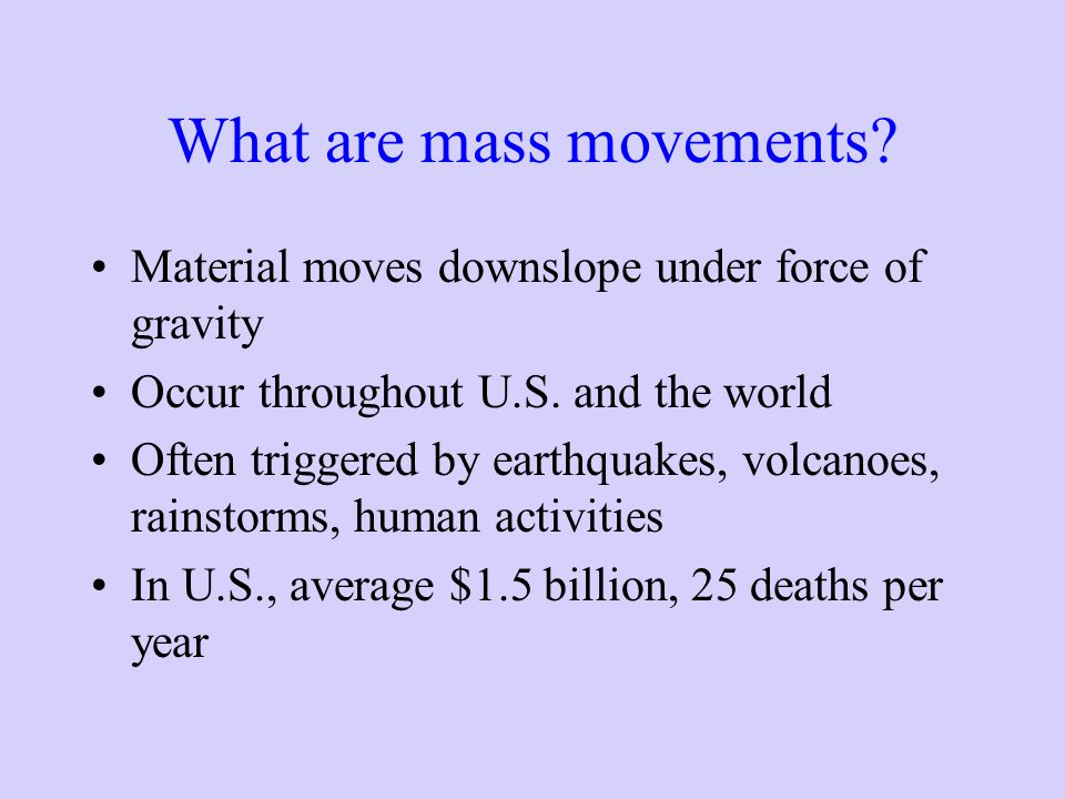 What are mass movements