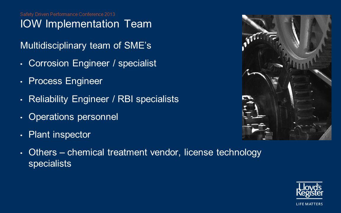 IOW Implementation Team