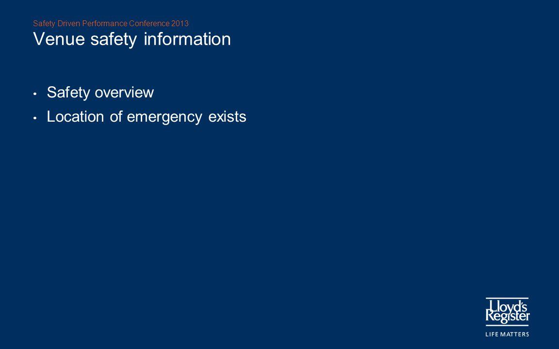Venue safety information
