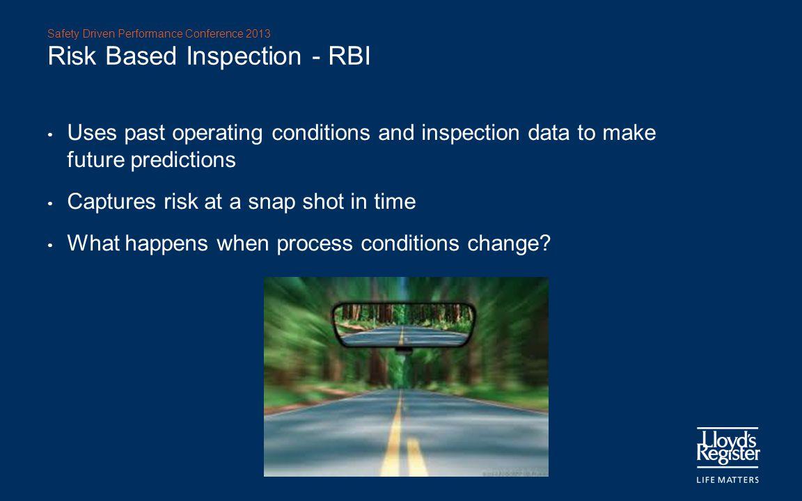 Risk Based Inspection - RBI