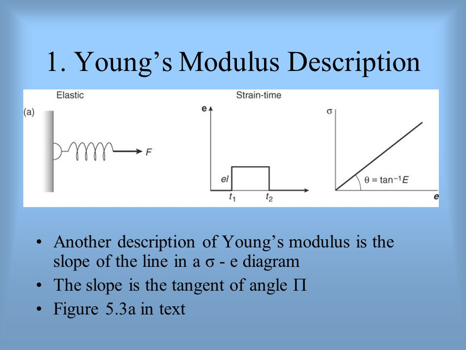 1. Young's Modulus Description
