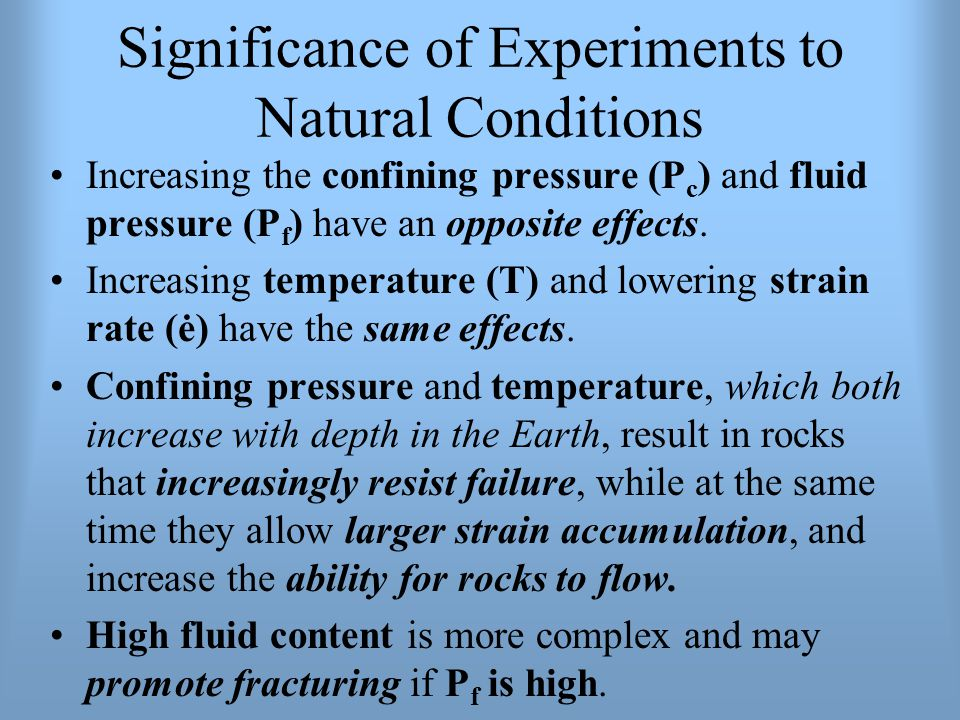 Significance of Experiments to Natural Conditions