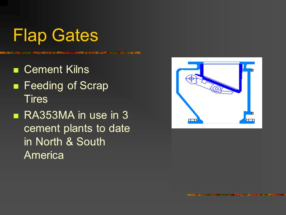 Flap Gates Cement Kilns Feeding of Scrap Tires