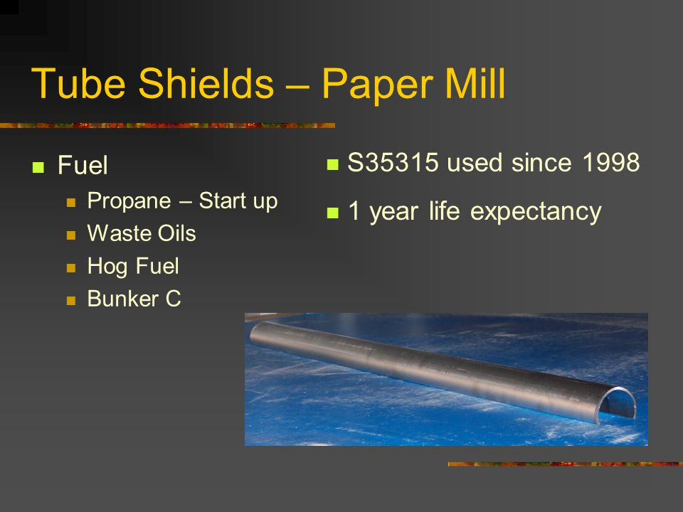 Tube Shields – Paper Mill