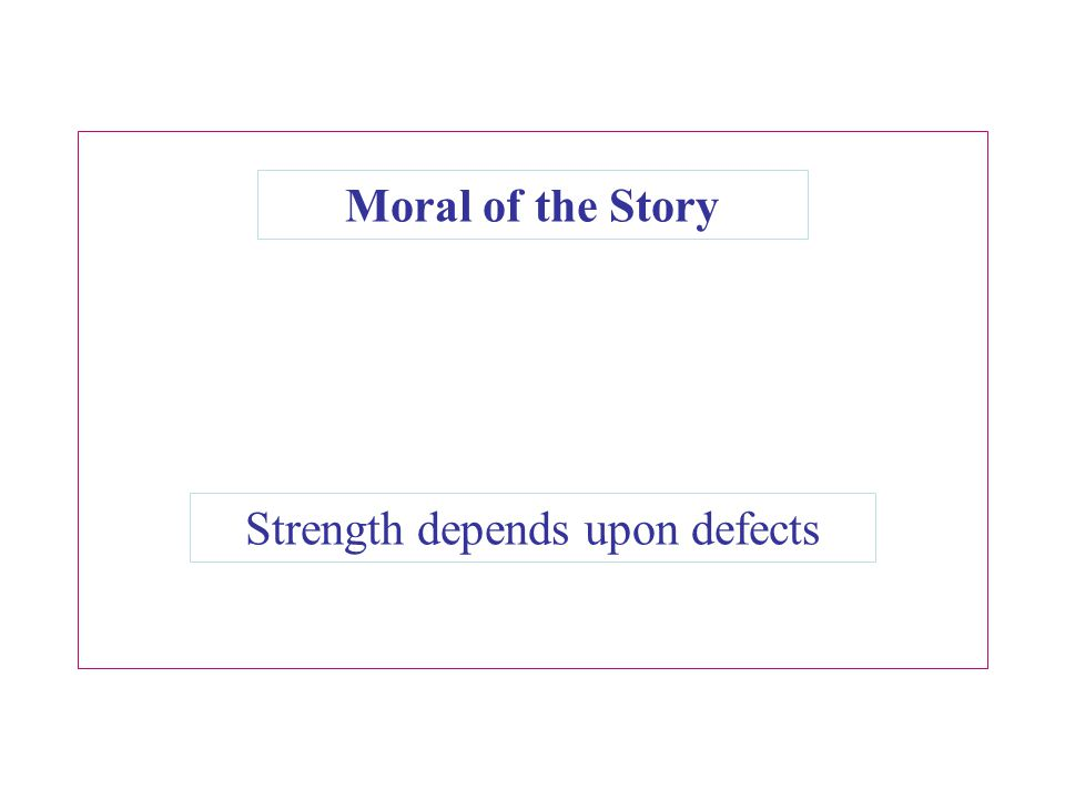 Strength depends upon defects