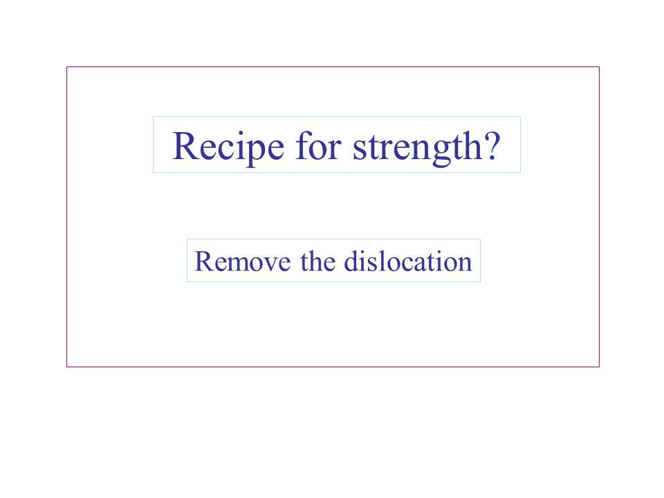 Remove the dislocation