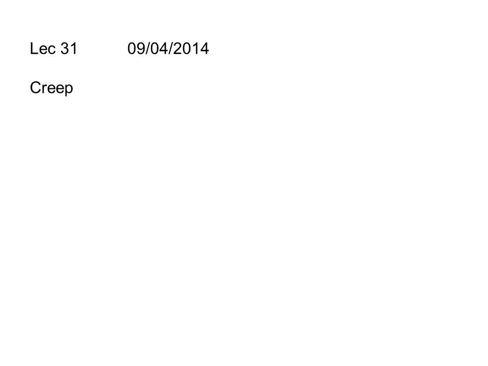 Lec 31 09/04/2014 Creep