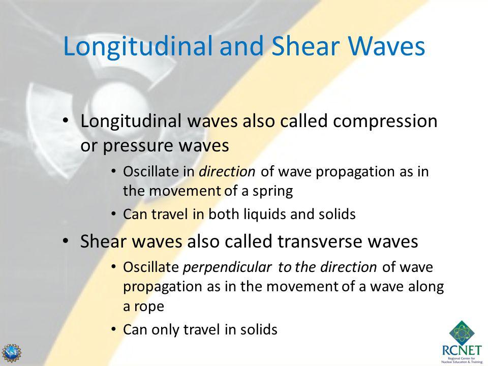 Longitudinal and Shear Waves