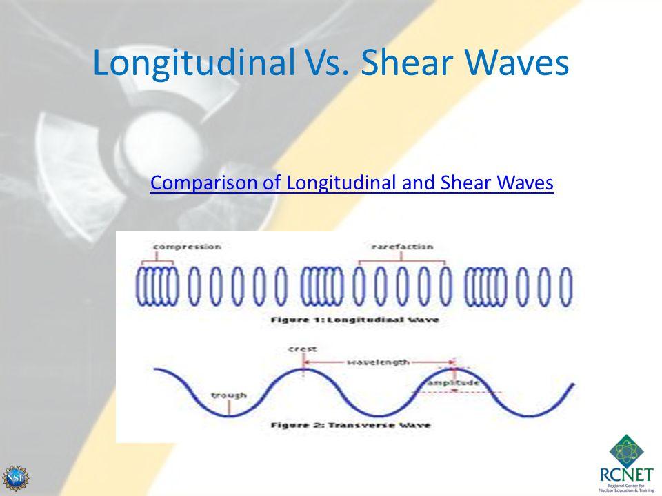 Longitudinal Vs. Shear Waves