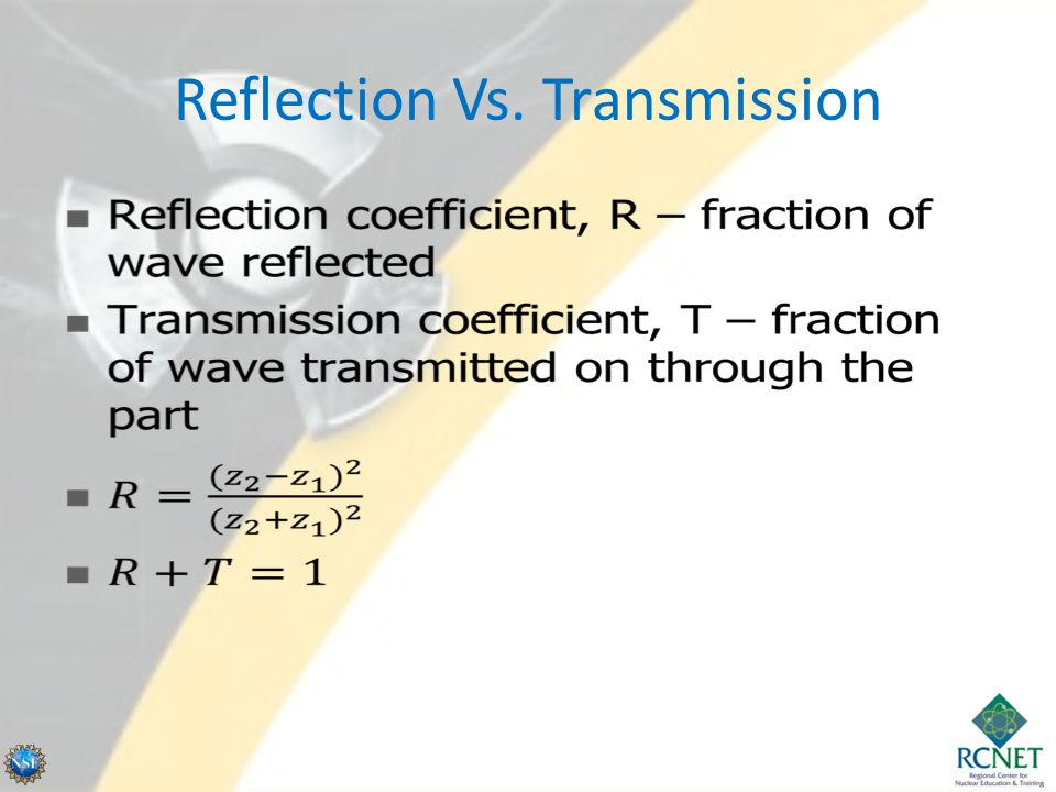 Reflection Vs. Transmission