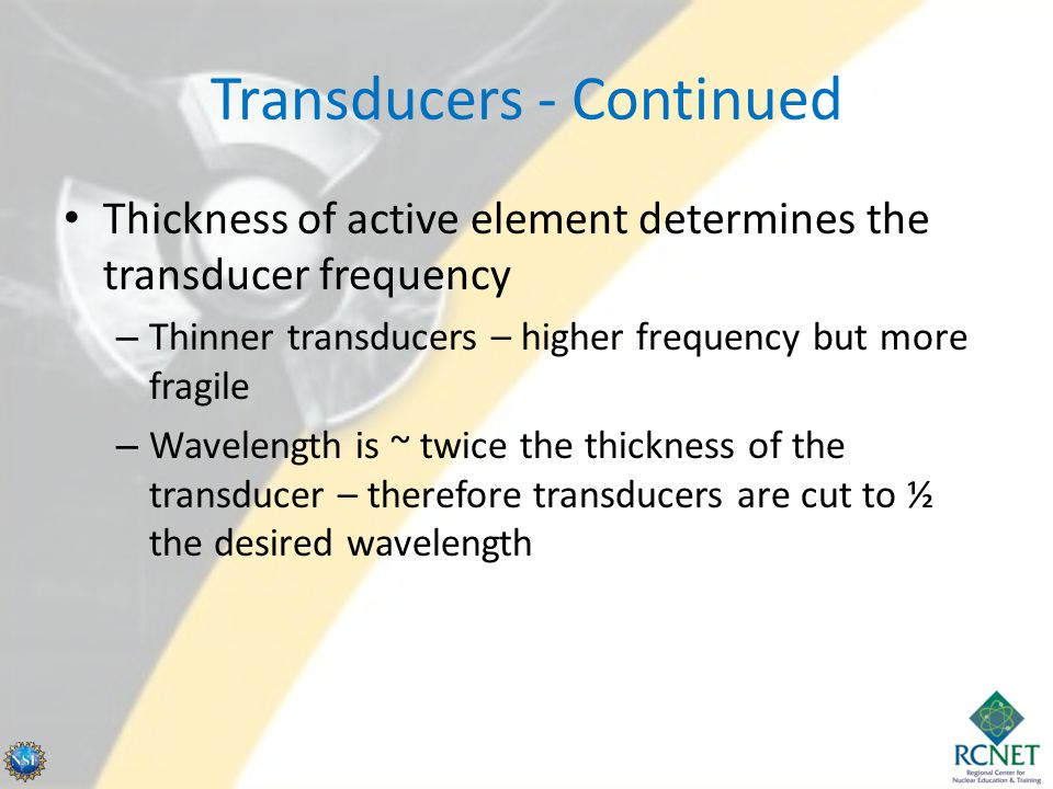 Transducers - Continued