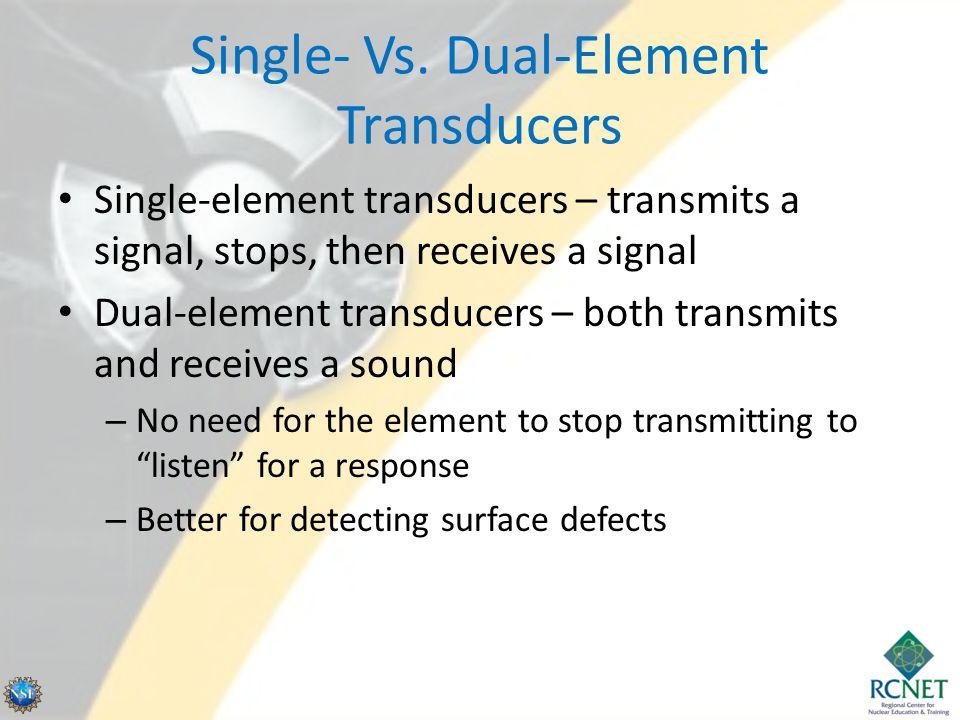 Single- Vs. Dual-Element Transducers
