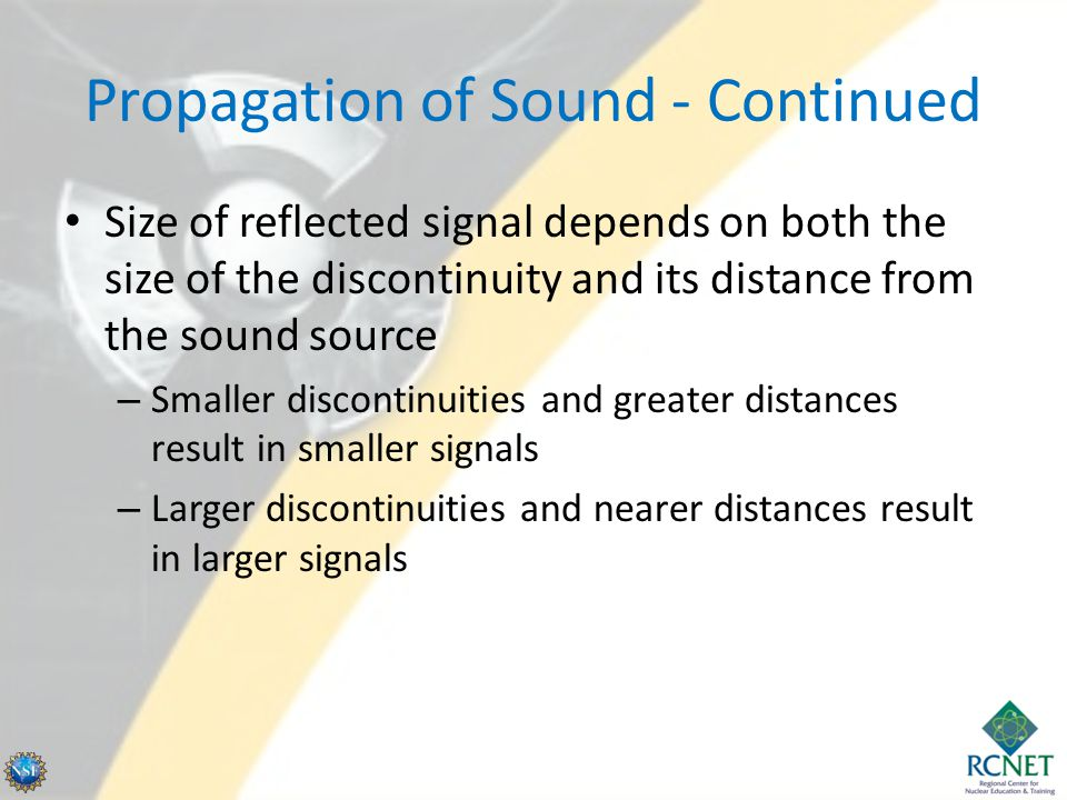 Propagation of Sound - Continued