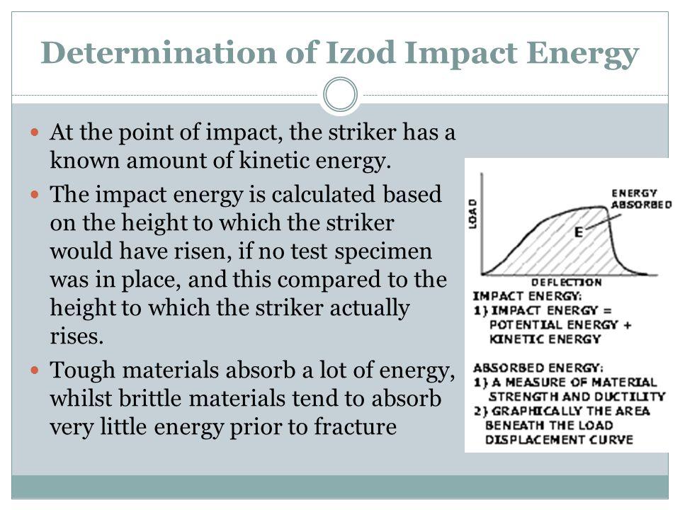 Determination of Izod Impact Energy