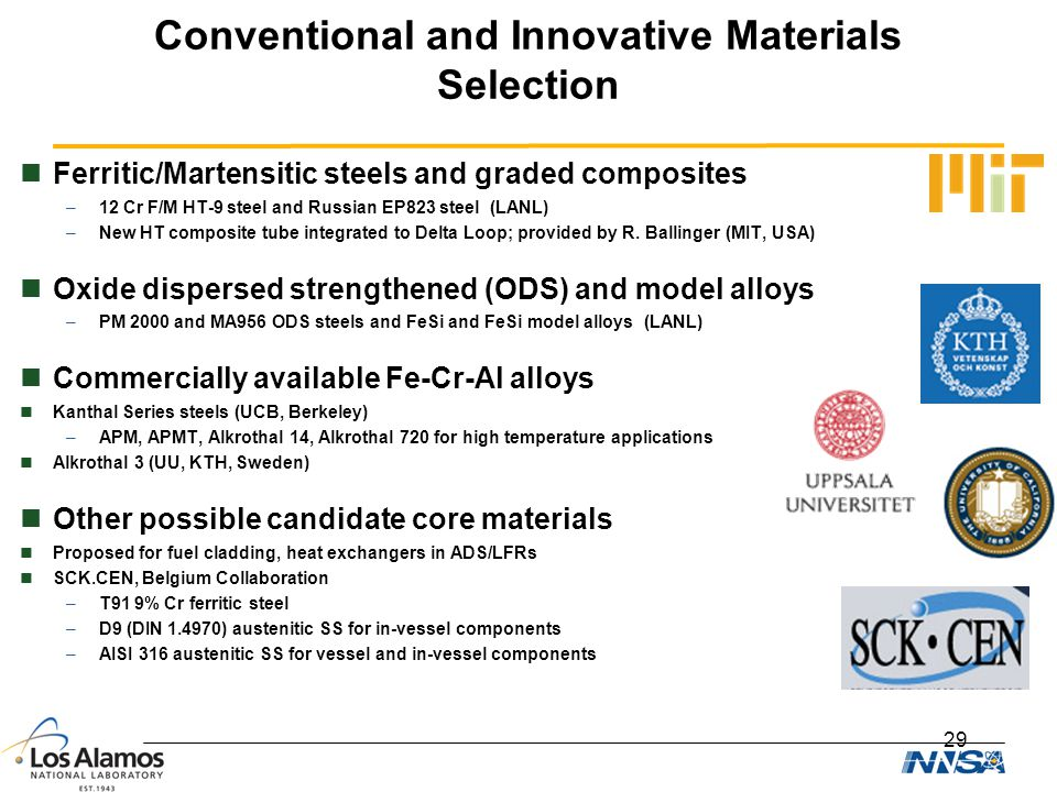 Conventional and Innovative Materials Selection