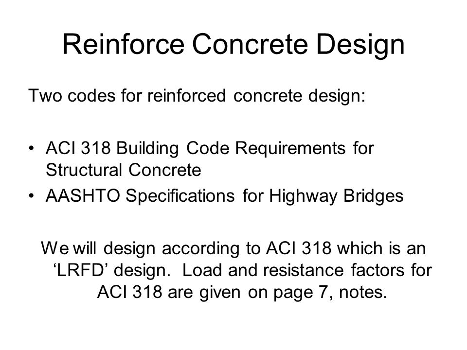 Reinforce Concrete Design