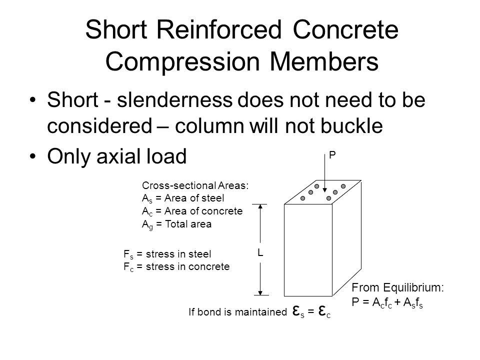 Short Reinforced Concrete Compression Members