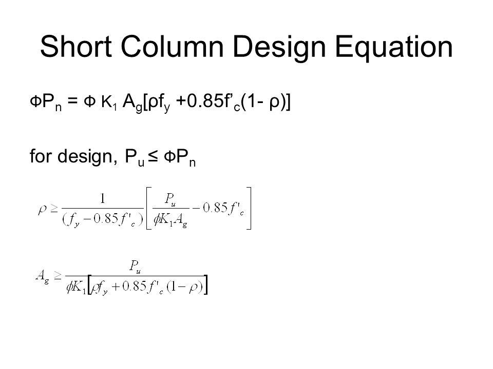 Short Column Design Equation