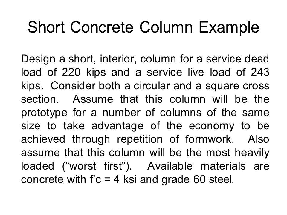 Short Concrete Column Example
