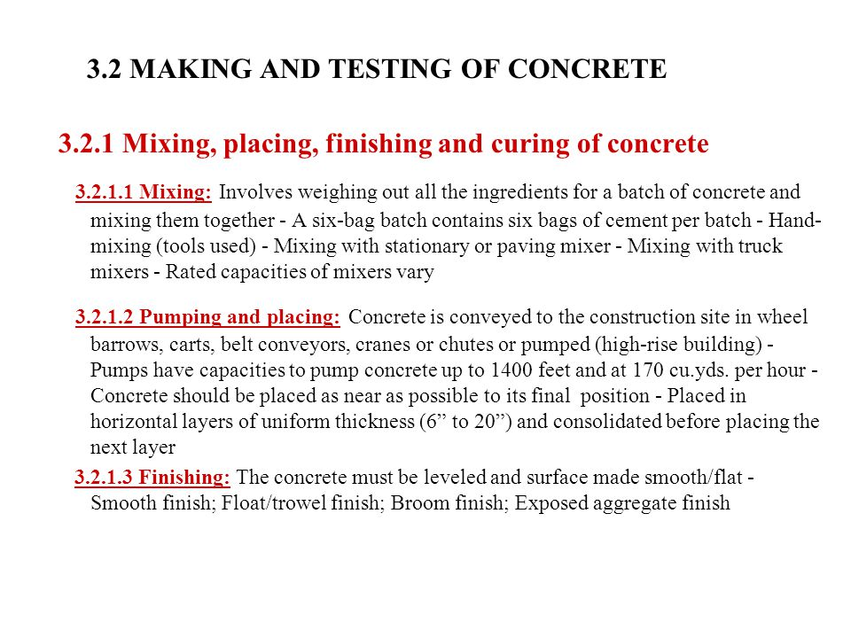 3.2 MAKING AND TESTING OF CONCRETE