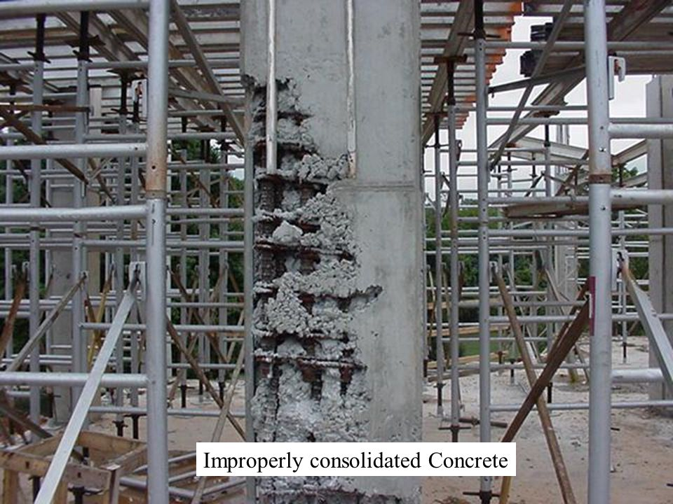 Improperly consolidated Concrete