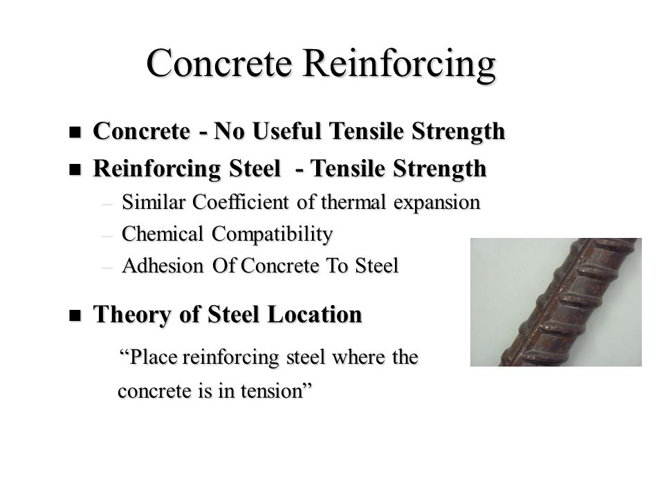 Concrete Reinforcing Place reinforcing steel where the