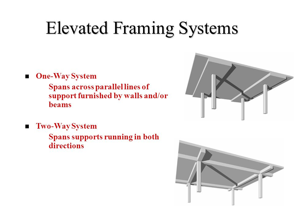 Elevated Framing Systems