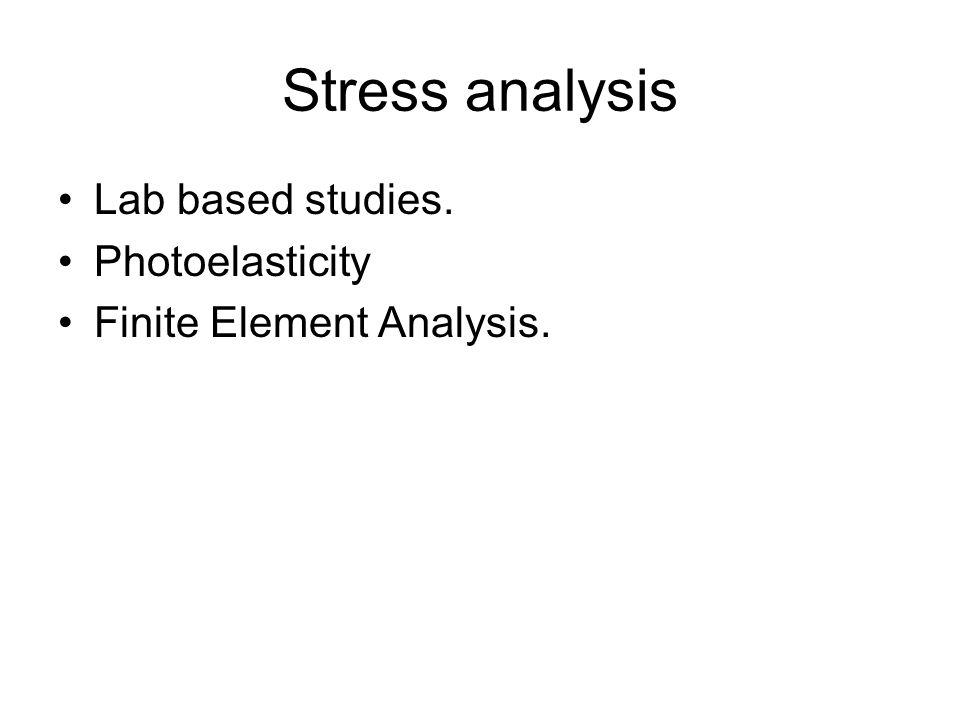 Stress analysis Lab based studies. Photoelasticity