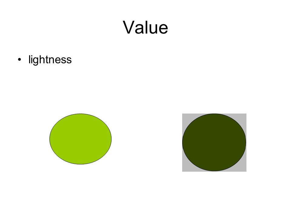 Value lightness
