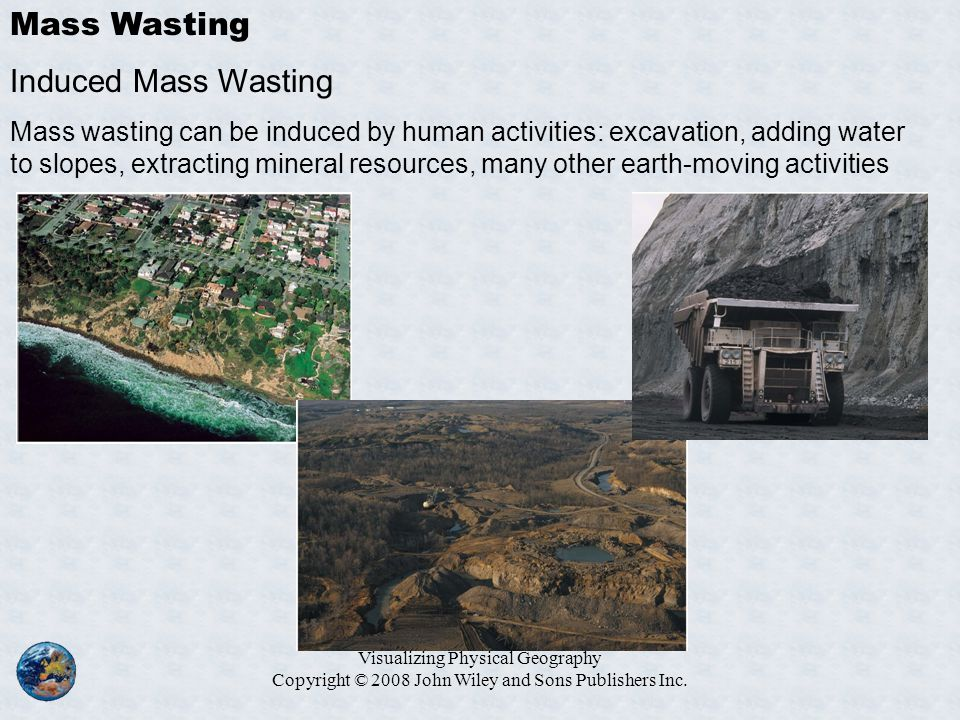 Mass Wasting Induced Mass Wasting