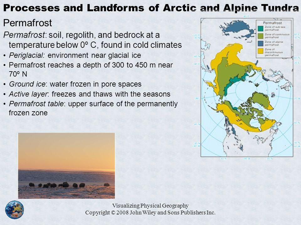Processes and Landforms of Arctic and Alpine Tundra Permafrost