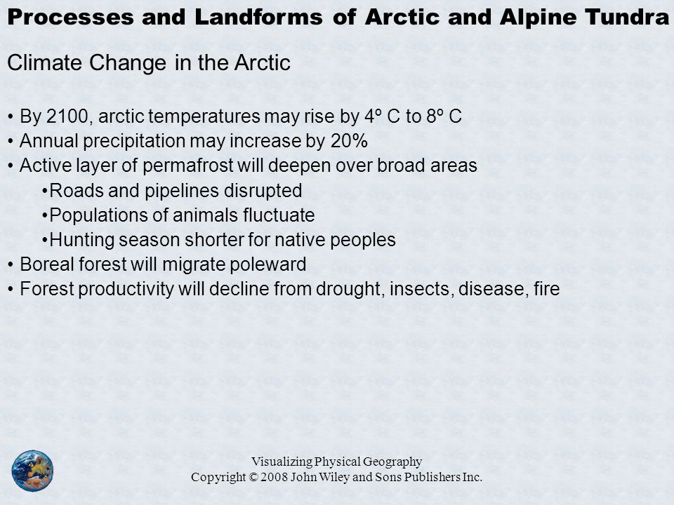 Processes and Landforms of Arctic and Alpine Tundra