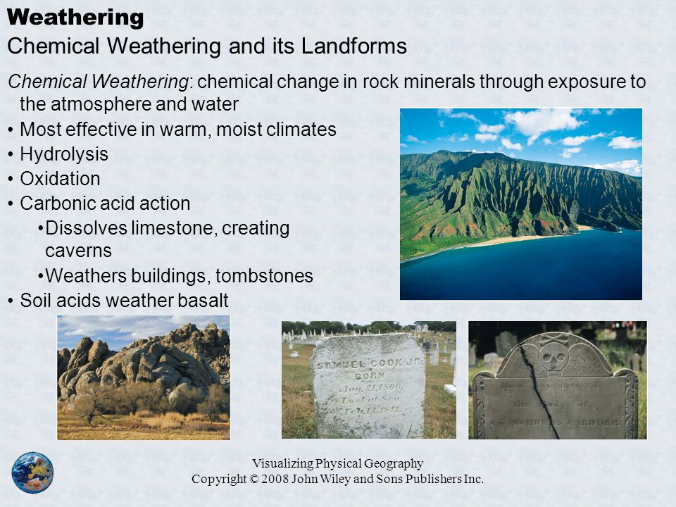 Chemical Weathering and its Landforms
